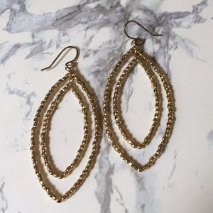 Bardot double hoop earrings gold